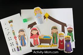 The Activity Mom - Away in a Manger Dice Game - The Activity Mom